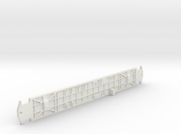 O Scale L&WV LONG CAR FRAME in White Natural Versatile Plastic
