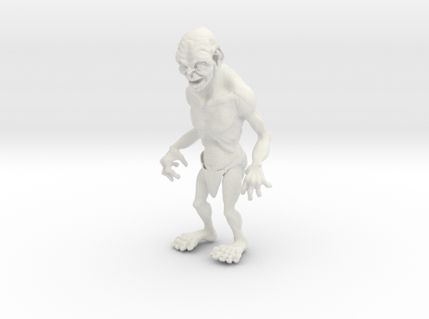 Gollum in White Natural Versatile Plastic