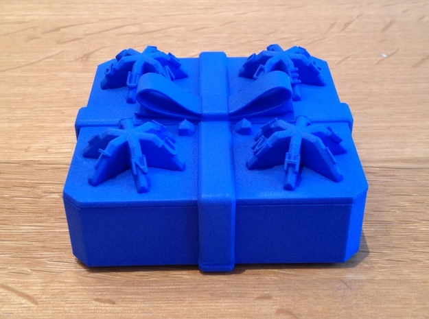 Present - Centrifugal Puzzle Box in Blue Processed Versatile Plastic