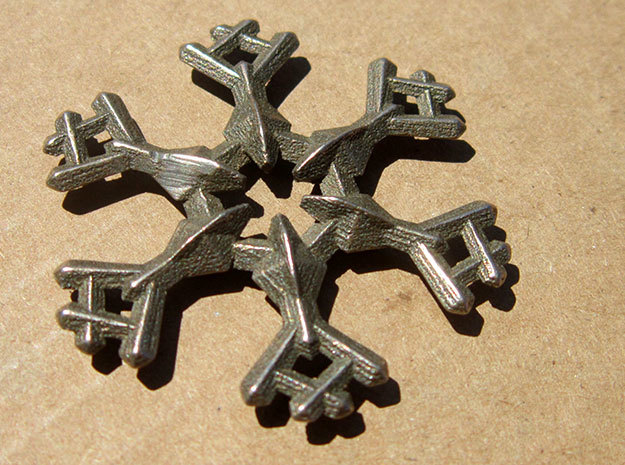 Snow Flake 6 Points A - 5cm in Stainless Steel