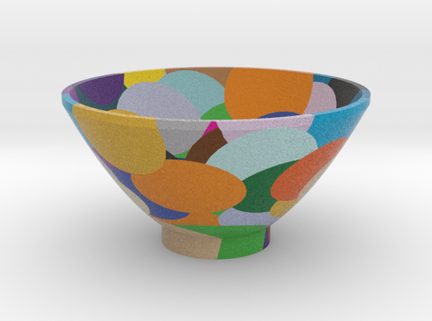 DRAW bowl - random sphere matrix in Full Color Sandstone