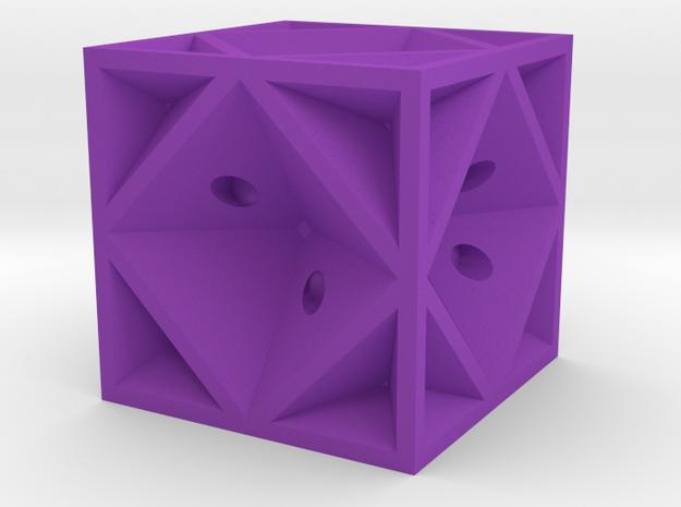 Dice42 in Purple Processed Versatile Plastic