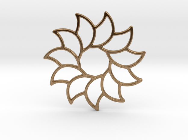 Dreamcatcher - Sunflower  in Natural Brass