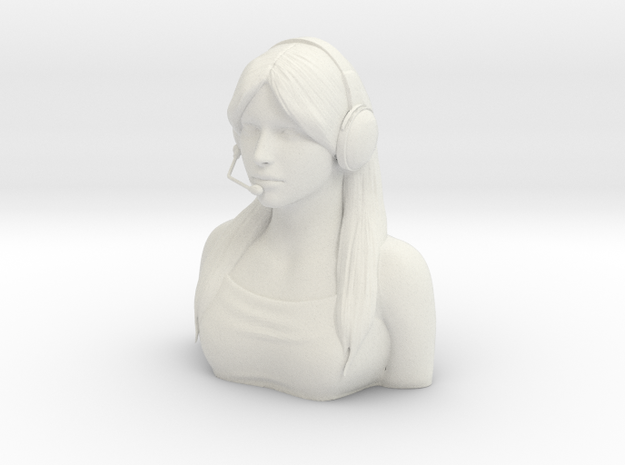 Female Pilot Figure 1/6 in White Natural Versatile Plastic