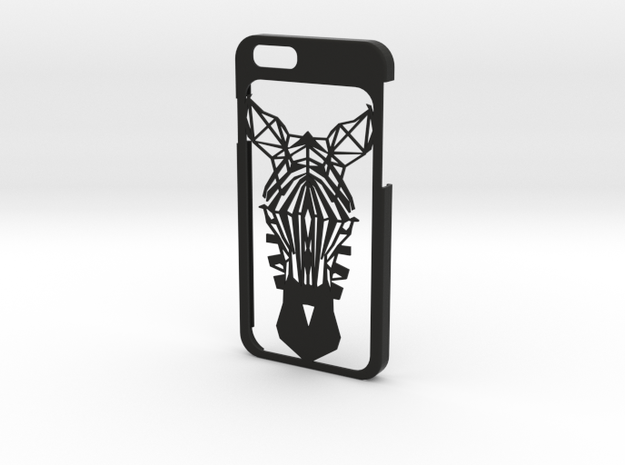 iPhone 6 - Zebra case in Black Natural Versatile Plastic
