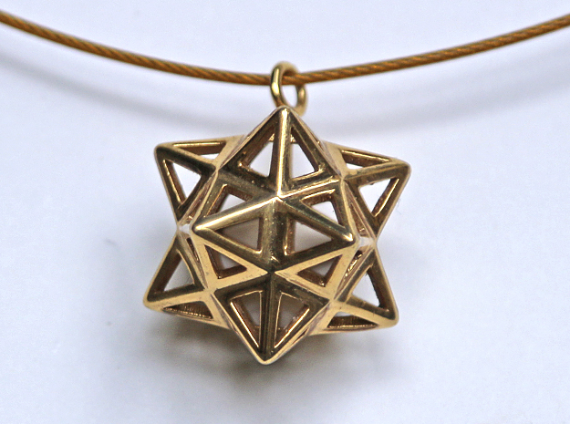 Dodecastar Pendant in Natural Brass
