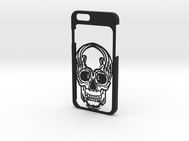 iPhone 6 - Skull case in Black Natural Versatile Plastic