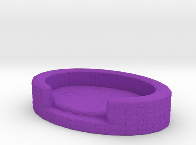 Tiny Pet Bed in Purple Processed Versatile Plastic
