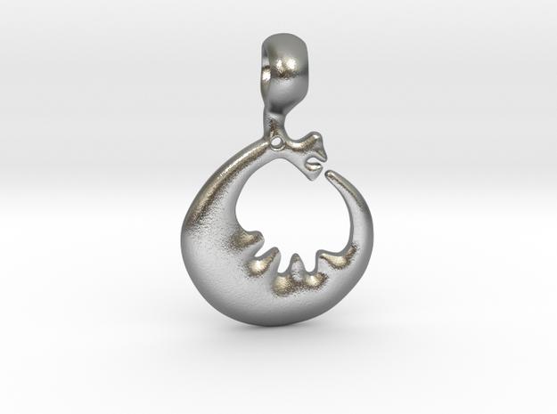 Storsjöodjuret in Natural Silver