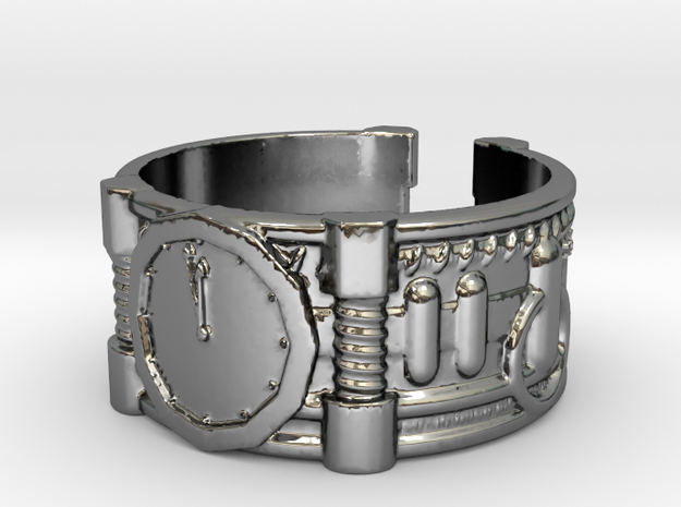 2 Minutes To Midnight #1, Ring Size 8 3d printed