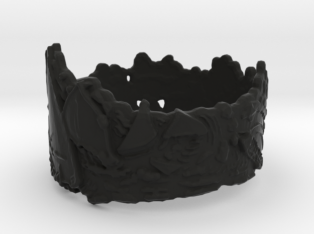 Cloud Ships #1, Ring Size 12 3d printed