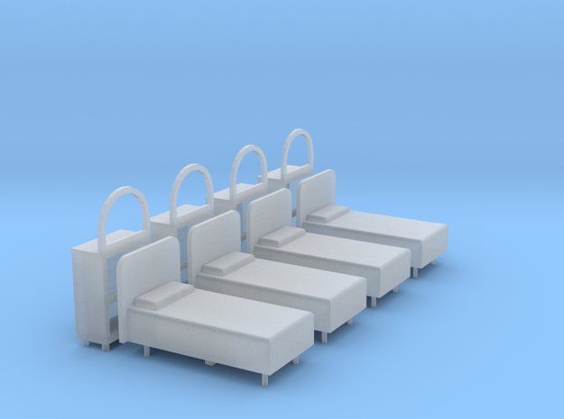 Bagby Hotel Beds And Dressers in Smooth Fine Detail Plastic