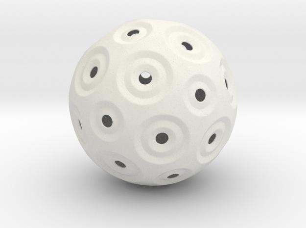 Sphere - O in White Natural Versatile Plastic