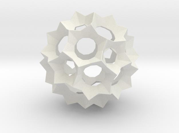 Spherical Stars in White Natural Versatile Plastic