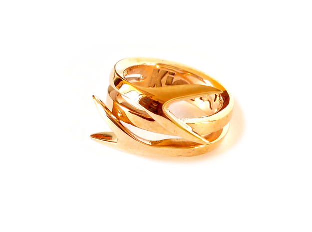 TAILS ring in Polished Bronze: 8 / 56.75