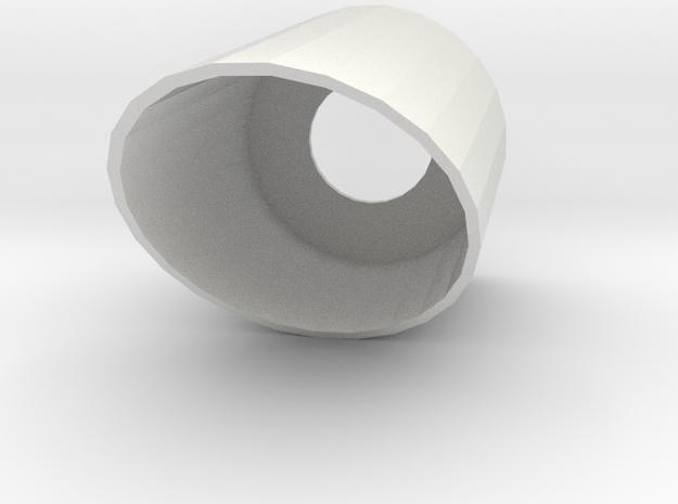 30mm Slanted CRD in White Natural Versatile Plastic