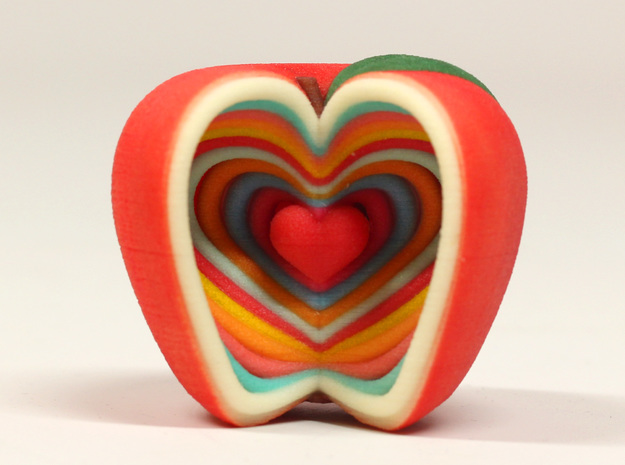 Growing Heart Apple in Full Color Sandstone