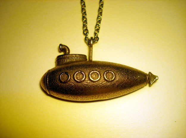 Submarine Pendant in Stainless Steel