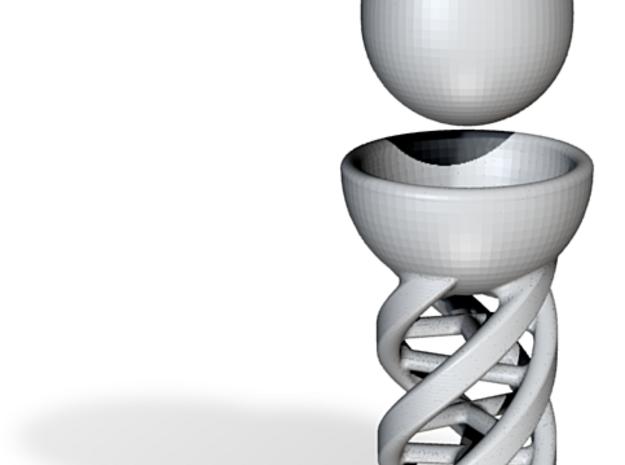 DNA Egg Holder & Columbus' Egg v.1 3d printed