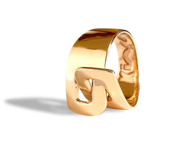 LOOP ring in Polished Brass: 8 / 56.75