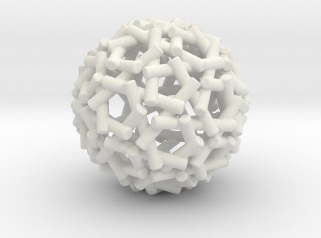 Sphere Logs in White Natural Versatile Plastic