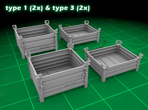 Stackable Container Set 2 in Frosted Ultra Detail