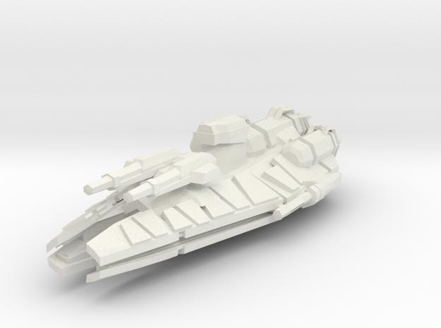 Conqueror Class Frigate  in White Strong & Flexible