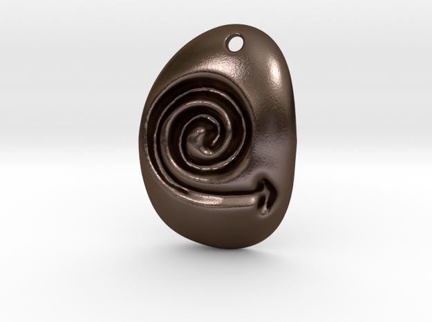 Logo in Polished Bronze Steel