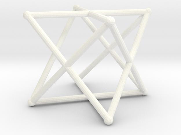 Rod Merkaba 4cm in White Processed Versatile Plastic