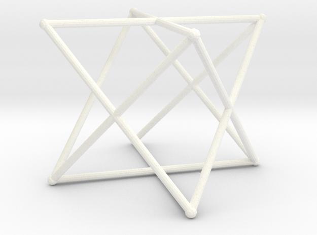 Rod Merkaba 6cm in White Processed Versatile Plastic