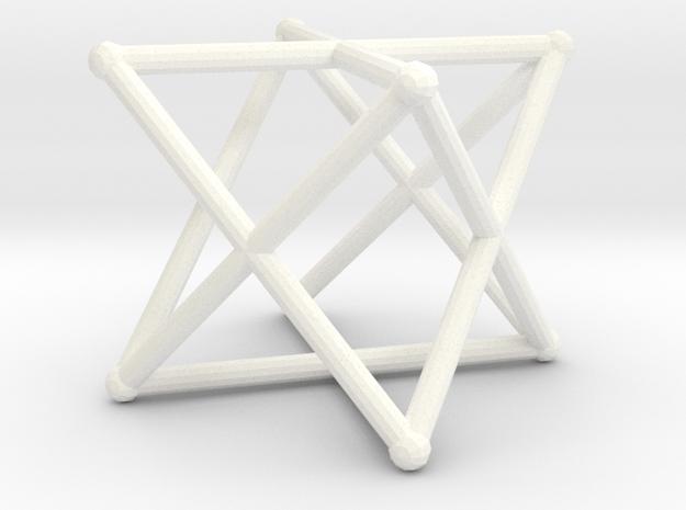 Rod Merkaba 3cm in White Processed Versatile Plastic