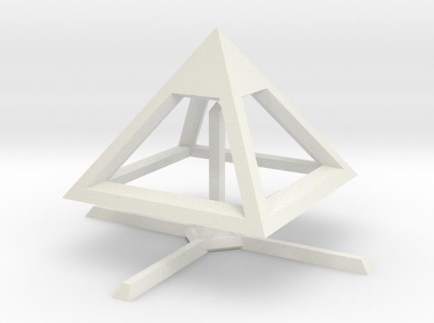 Pyramid Mike B 4cm in White Natural Versatile Plastic