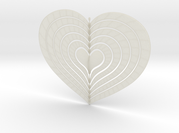 Change Of Heart Spinner Spiral Ribs 15cm 3d printed