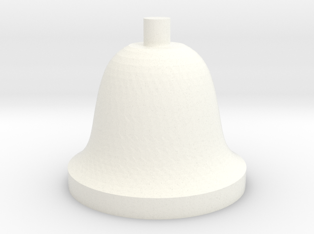 Bell in White Strong & Flexible Polished