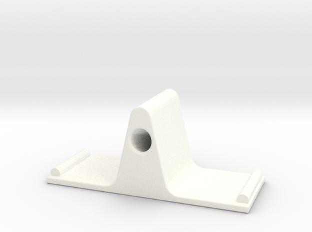Eyeglass Stand II in White Processed Versatile Plastic