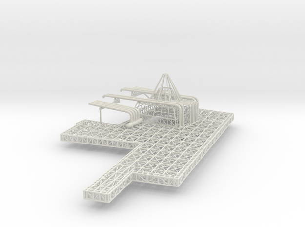 Stern Deck Upper Stbd V0.11 in White Strong & Flexible