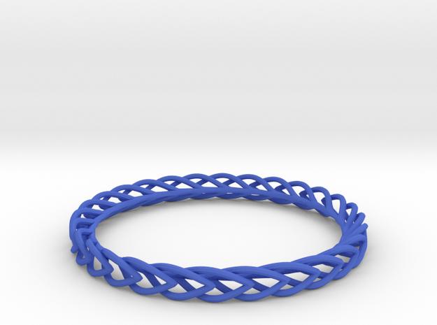 Leaf Bangle in Blue Strong & Flexible Polished