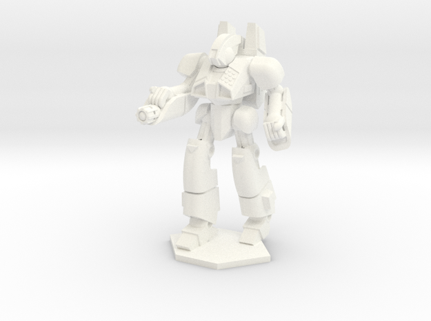 Tiger 2 Mk1 Combat Walker - 6mm scale in White Strong & Flexible Polished