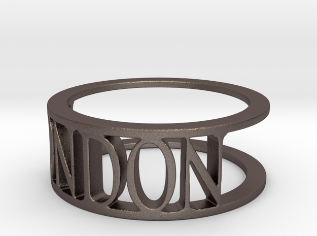 Typo LONDON Ring (Size 8) in Polished Bronzed Silver Steel