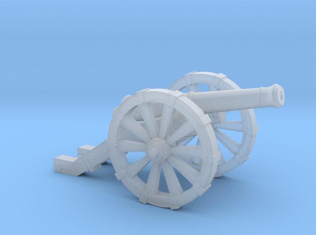 Mini Cannon French 4 Pound   in Smooth Fine Detail Plastic