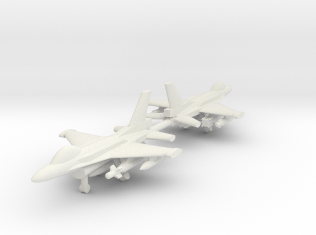1/285 F-16C Block 52+ (Single seat) (x2) in White Natural Versatile Plastic