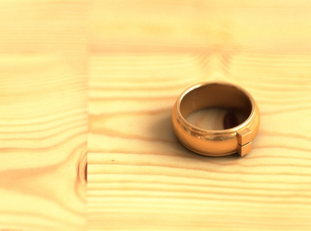 Geom ring in Polished Bronze