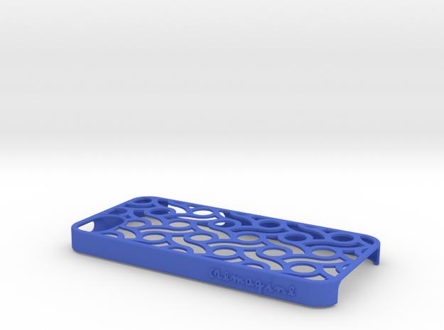 Circles in Blue Processed Versatile Plastic