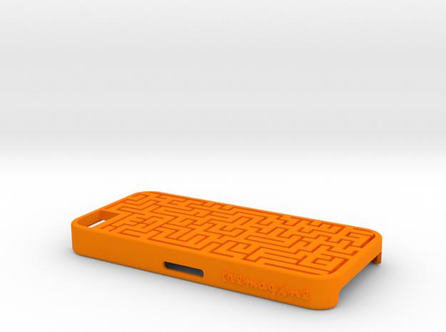Maze in Orange Processed Versatile Plastic