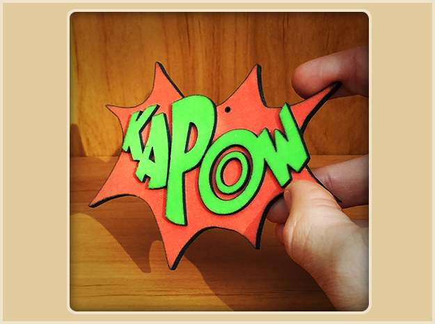 Kapow Ornament in Full Color Sandstone