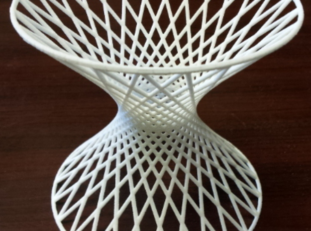 Doubly Ruled Hyperboloid in White Natural Versatile Plastic
