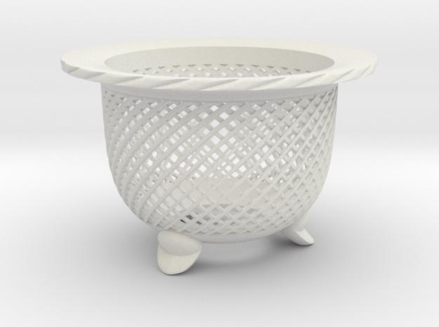 "Neo Pot - Model 5 - Size 2.5 (2.5"" ID) in White Natural Versatile Plastic"