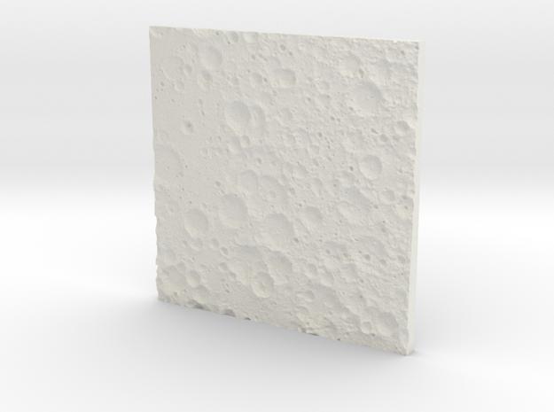 Moon Far Side in White Natural Versatile Plastic