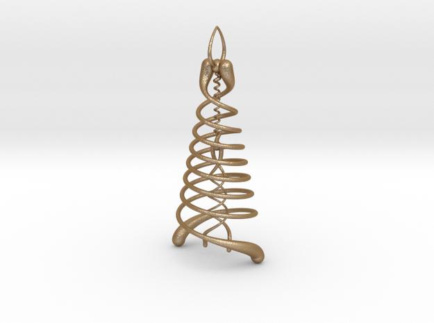 Double Helix Pendant 3d printed