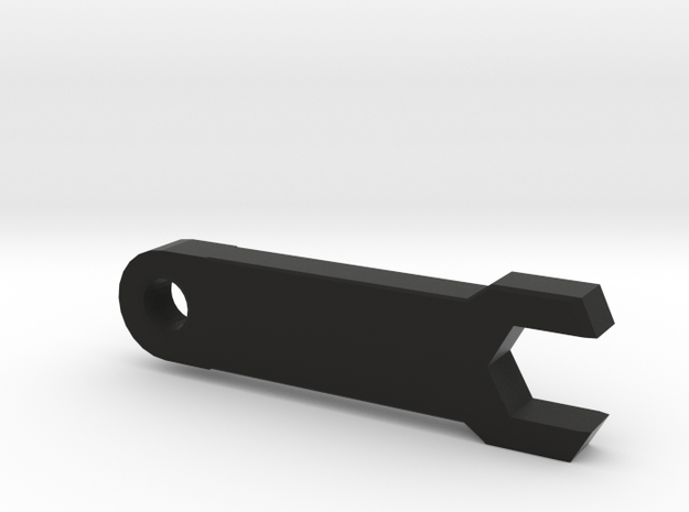 Customizable SMA Spanner Key ring in Black Strong & Flexible